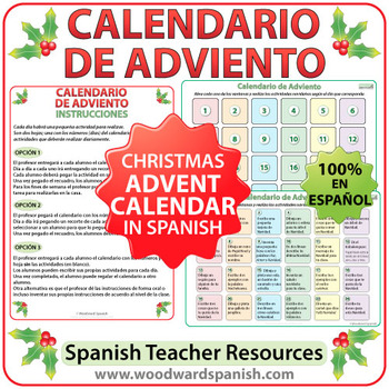 Spanish Advent Calendar - Calendario de Adviento