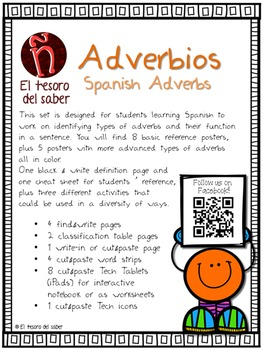 Spanish Adverbs - Adverbios - Posters and Activities