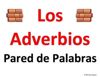 Spanish Adverbs Word Wall Classroom Signs - Los Adverbios