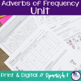 Spanish Adverbs of Frequency Unit
