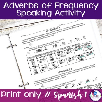Spanish Adverbs of Frequency Speaking Activities
