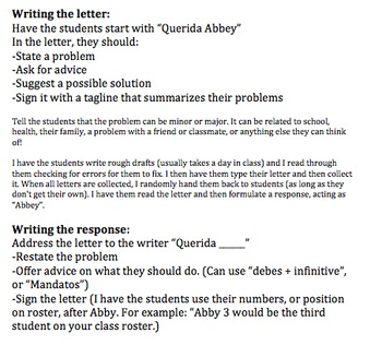 Spanish Advice Dear Abby Letter by SpanishPlans