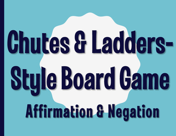 Spanish Affirmation and Negation Chutes and Ladders-Style Game
