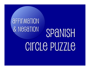 Spanish Affirmation and Negation Circle Puzzle