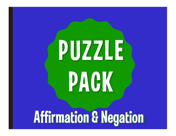 Spanish Affirmation and Negation Puzzle Pack