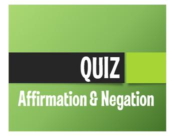 Spanish Affirmation and Negation Quiz