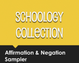 Spanish Affirmation and Negation Schoology Collection Sampler