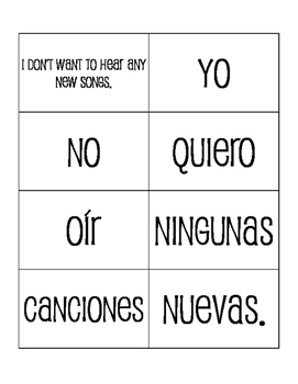 Spanish Affirmation and Negation Sentence Mixer