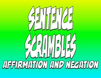 Spanish Affirmation and Negation Sentence Scramble