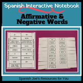 Spanish Affirmative & Negative Words Interactive Notebook