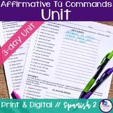Spanish Affirmative Tú Commands Bundle