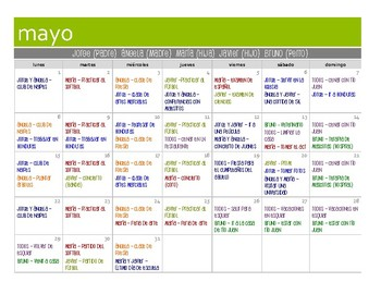 Spanish Affirmative Tú Commands Calendar Activity