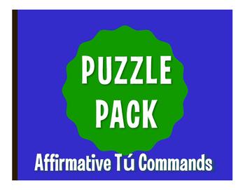 Spanish Affirmative Tú Commands Puzzle Pack
