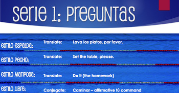 Spanish Affirmative Tú Commands Relay Race