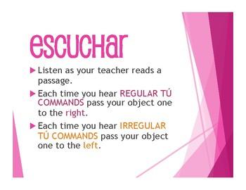 Spanish Affirmative Tú Commands Tactile Activity