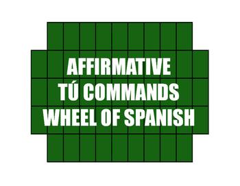 Spanish Affirmative Tú Commands Wheel of Spanish