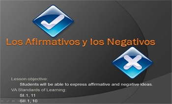 Spanish Affirmatives and Negatives