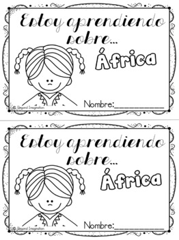 Spanish Africa Continent Booklet | 48 Pages for Differentiated Learning + Bonus