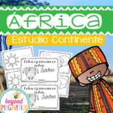 Spanish Africa Continent Booklet | 48 Pages for Differenti