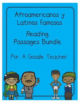 Spanish African Americans & Latinos Reading Comprehension Passages Bundle
