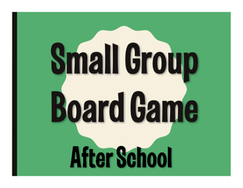 Spanish After School Board Game