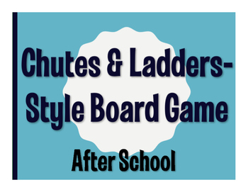 Spanish After School Chutes and Ladders-Style Game