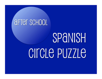 Spanish After School Circle Puzzle