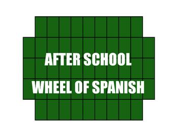Spanish After School Wheel of Spanish