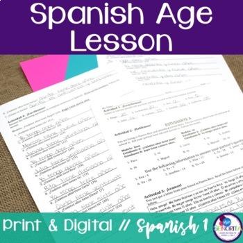 Spanish Age Lesson