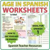 Spanish Age Worksheets