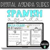 Distance Learning DIGITAL Spanish Agenda/Planner - White &
