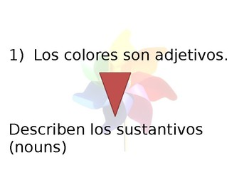 Spanish Agreement of Colors Guided Notes