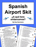 Spanish Airport and Travel Skit / Speaking Activity ¿A qué hora embarcamos?