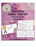 Spanish Airport/Travel Story Past and Present Tense with A