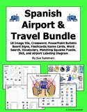 Spanish Airport / Travel Bundle of 9 Items - Vocabulary, Puzzles, Skit and More!