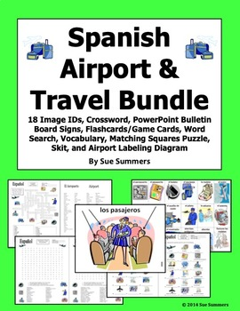 Spanish Airport and Travel Bundle of 6 Items