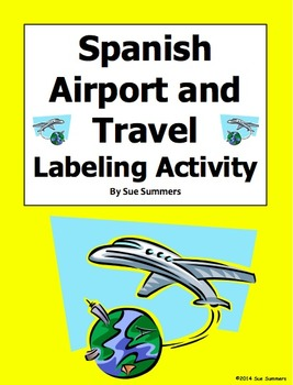 Spanish Airport and Travel Diagram and Labeling Activity -