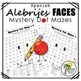 Spanish Alebrijes Faces Mystery Dot Mazes
