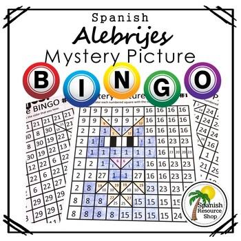 Spanish Alebrijes Mystery Picture Bingo 1