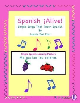 Spanish ¡Alive! Musical Mini-lessons – Me gustan los color