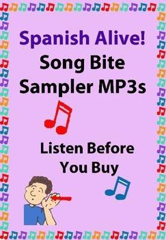 Spanish ¡Alive! Musical Mini – lessons Sound Bites Mp3s(zipped)