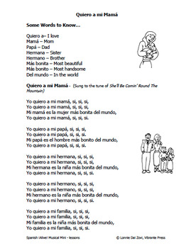 Spanish ¡Alive! Musical Mini-lessons - Yo quiero a mi mamá