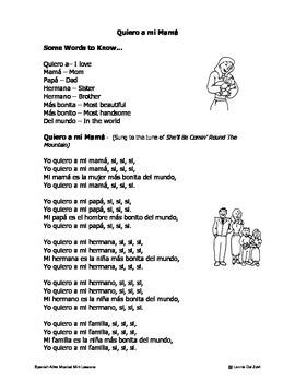 Spanish ¡Alive! Musical Mini-lessons – Yo quiero a mi mama (Family Song)