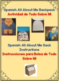 Spanish All About Me Backpack Craft-Todo Sobre Mi (Mochila)