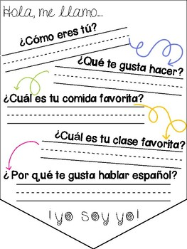 Spanish All About Me Banner and Presentation Activity