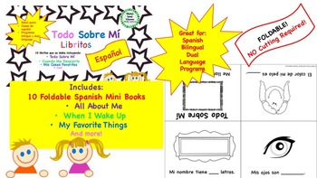 Spanish All About Me Mini Books -Todo Sobre Mí - Bilingual, Dual Language