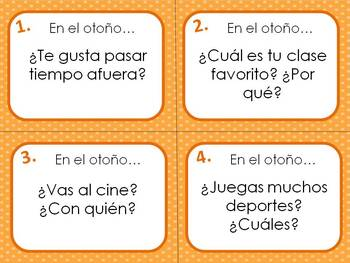 Spanish All Seasons Question Task Card Bundle