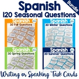 Spanish Task Cards All Seasons Questions Bundle