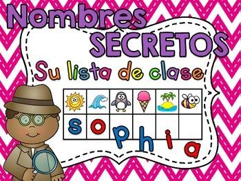 Spanish Alphabet - Nombres Secretos