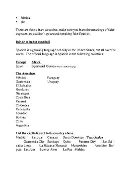 Spanish Alphabet & Countries